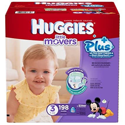 Huggies Little Movers Plus Taille 3, 198 Lot