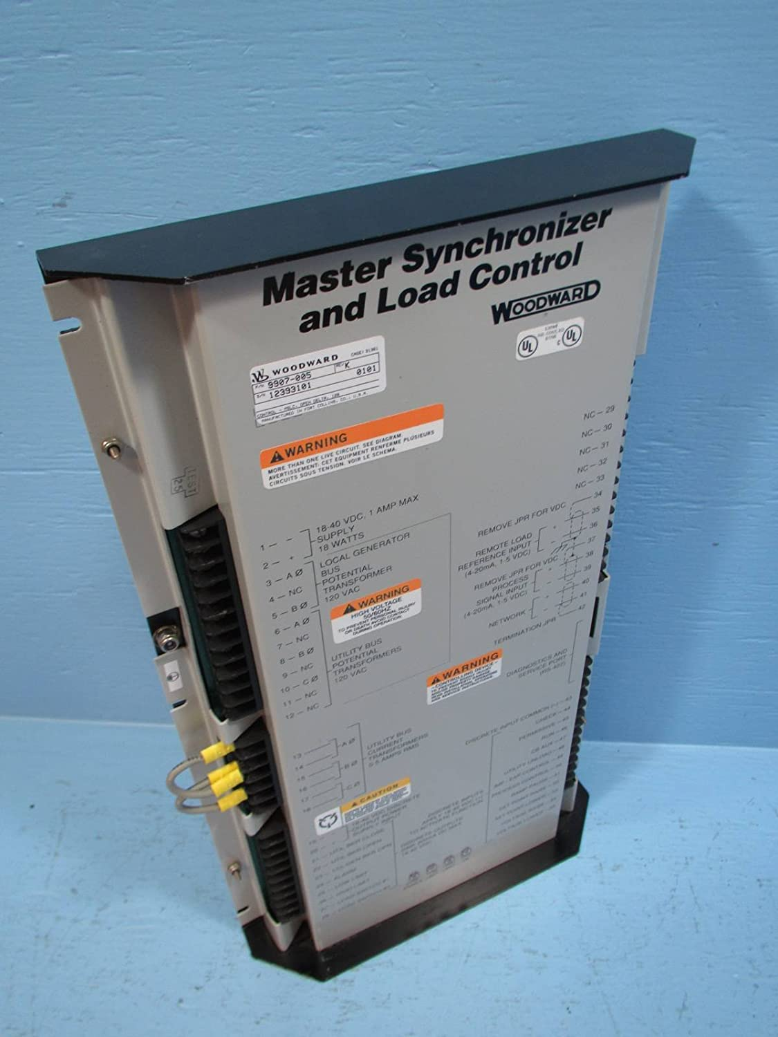Woodward 9907-005 Master Synchronizer and Load Control Relay 9907005 ...
