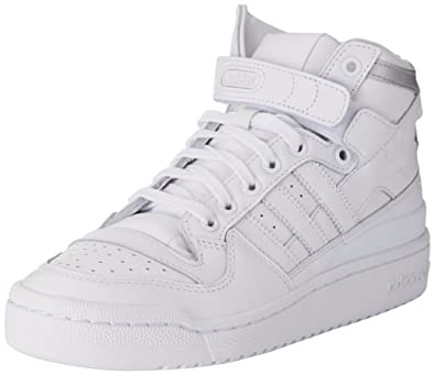 75a38eeff6ea6c adidas Forum Mid Refined, Chaussures de Basketball Homme, Multicolore FTWR  White/Silver Met