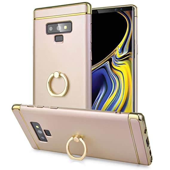timeless design f2912 a6f88 Olixar Samsung Galaxy Note 9 Ring Case - Finger Loop - Slim & Lightweight  Design - Fashion Case - Built in Media Viewing Stand - Wireless Charging ...