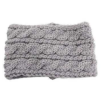 d8fd15c125b3 Amazon.com   1Pc Winter Women Ear Warmer Widening Wool Hair Bands Three  Rows Twist Knitted Headband Turban Headwrap   Beauty