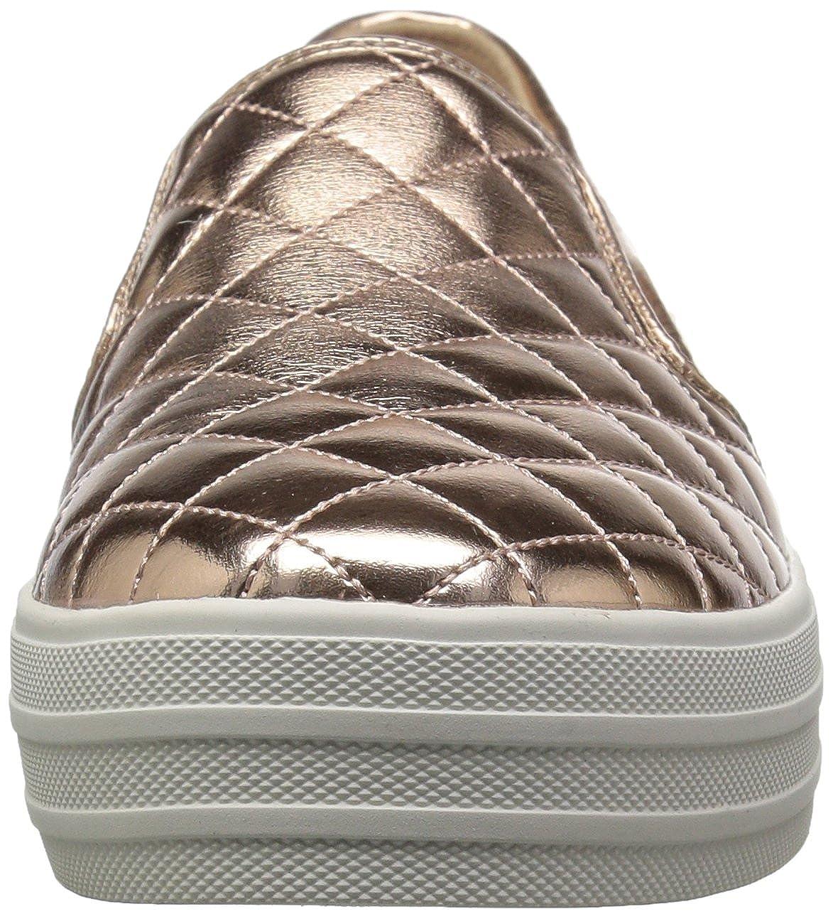 Skechers Damen Double up-Duvet Slip on Sneaker, Silber (Silver), 35.5 EU