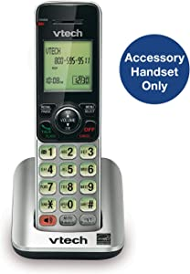 VTech CS6609 Cordless AccessoryHandset - Requires a compatible phone system purchased separately (VTech CS6619, CS6629, CS6648, or CS6649),Silver/black
