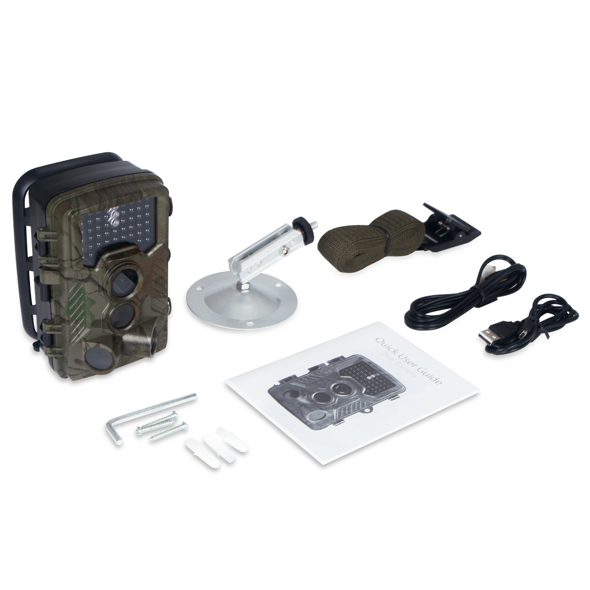 FLAGPOWER Hunting Trail Camera, 16MP 1080P 0.2s Trigger Time Wildlife Game Camera with 2.4'' LCD 850nm Upgrading IR LEDs Night Vision up to 75ft/2.3m IP56 Spray Water Protected Design by FLAGPOWER (Image #9)