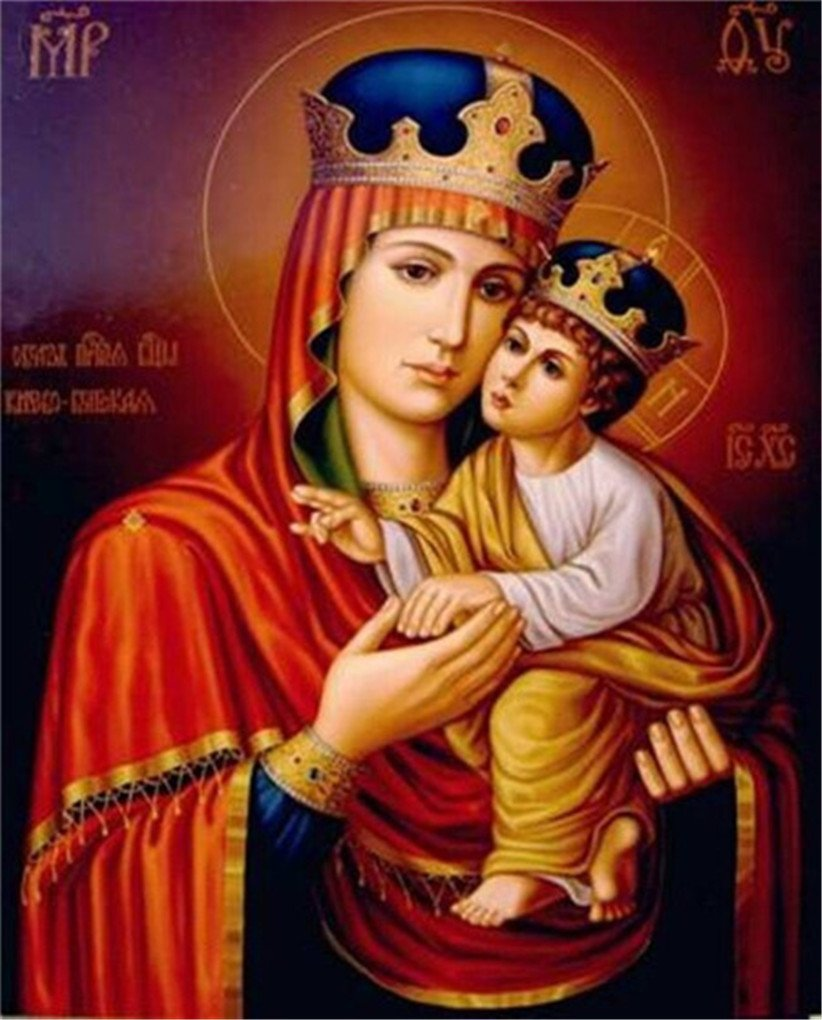 5D Diamond Painting Madonna And Child Full Diamond Embroidery Square Diamond Embroidery Painting