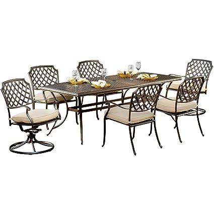 Miraculous Amazon Com Agio Heritage7Pc 7 Piece Heritage Dining Set Ibusinesslaw Wood Chair Design Ideas Ibusinesslaworg
