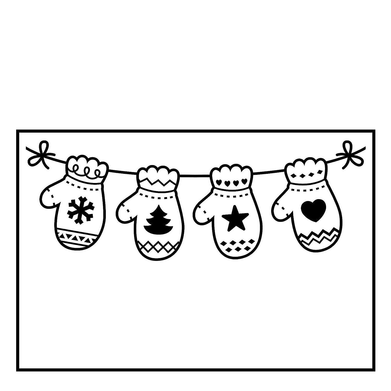 Plantilla Mitones Colgantes Plastic 10,8 x 14,6 cm Darice Carpetas de estampaci/ón