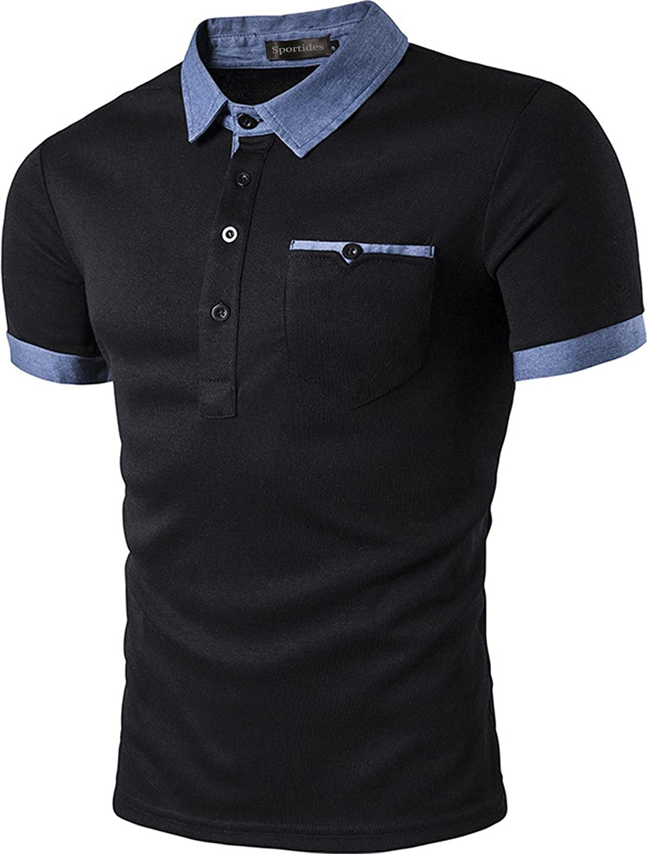 Sportides - Polo - para hombre negro JZA013 Black S: Amazon.es ...