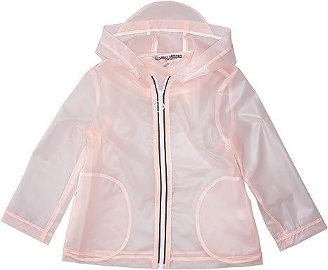 LIONVI Kids Raincoat,Durable Translucent Rain Cape,Portable Hooded Poncho for Boys Girls