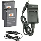 DSTE® batterie de remplacement Dc152e kit de chargeur de voyage pour Nikon EN-EL23Coolpix P600Coolpix S810°C P900P900s Digital Camera