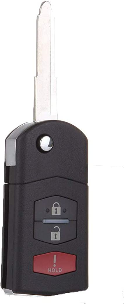 Mazda Replacement Flip Key Remote Uncut Key Blade Cx7 Cx9 Mazda 3 2 5 6