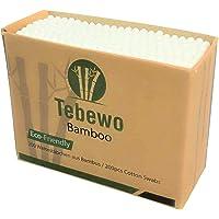 200 wattenstaafjes van bamboe en katoen, 100% biologisch afbreekbaar, composteerbaar, milieuvriendelijke premium…