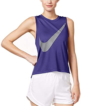 Nike Womens Fitness & Yoga Workout Tank Top Purple XL ...