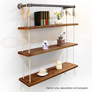 Diwhy Industrial Rustic Wall Shelf Floating Pipe Shelving Design BookShelf  Decro Portable French Country Style Handmade