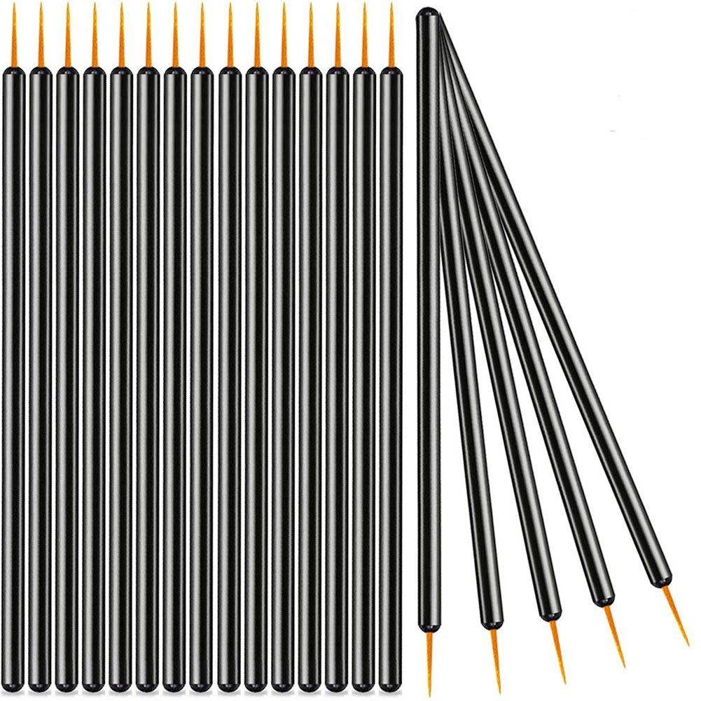 XZEN Disposable Eyeliner Brush Applicator Cosmetic Eye Wands Makeup Tool (1000pcs, Gold head)