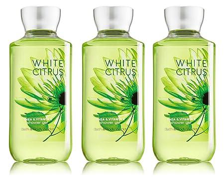 Lot of 3 Bath Body Works White Citrus 8.0 oz Shower Gel