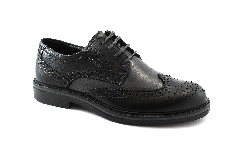 IGI&Co 2111922 Schwarz Grau Bicolor Elegant Herrenschuhe Zehenkappe Englisch Leder Bicolor Grau Nero f2555f