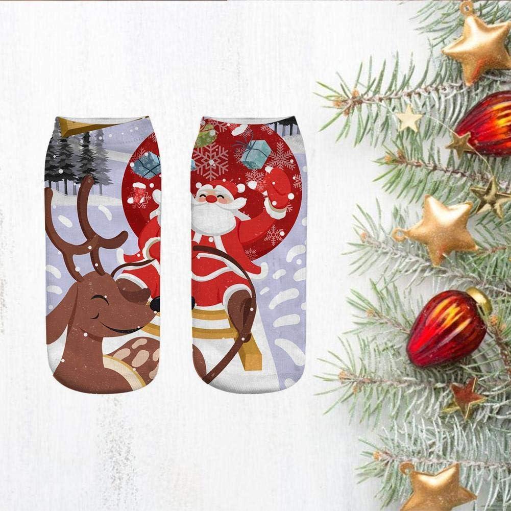 Crew Knee Cozy Socks Women Fancy Christmas Holiday Design Soft,3D Printed Cotton Socks for Women Christmas Gift 7.87/×3.15in Exceptional Hemistin Christmas Socks Printed Fun Colorful Festive
