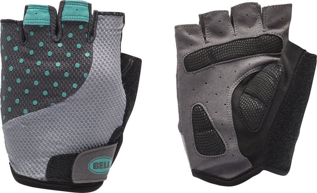 Bell Adelle 500 Women's Half Finger Performance Cycling Gloves, Small/Medium, Light Silver/Teal