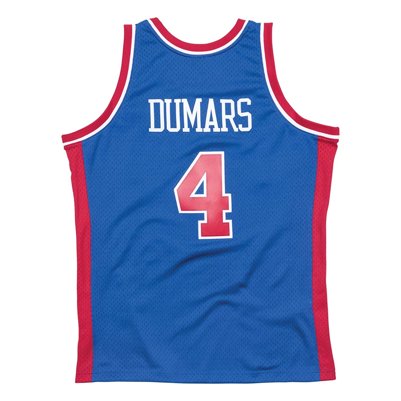 17990b8f7 Amazon.com : Mitchell & Ness Detroit Pistons Joe Dumars Swingman Jersey NBA  Throwback Blue (Small) : Clothing