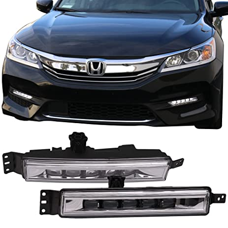 Amazon led fog lights fits 2016 2017 honda accord oe style led fog lights fits 2016 2017 honda accord oe style black house halo projector sciox Image collections