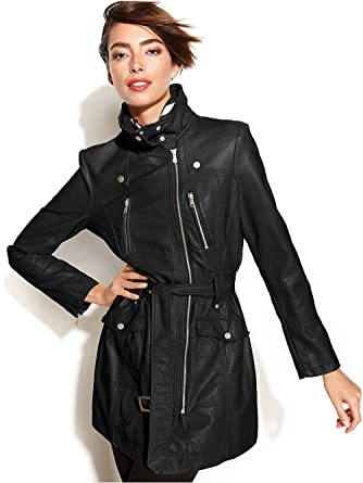 f84fbb048d2 Kenneth Cole New York Womens Belted City Coat