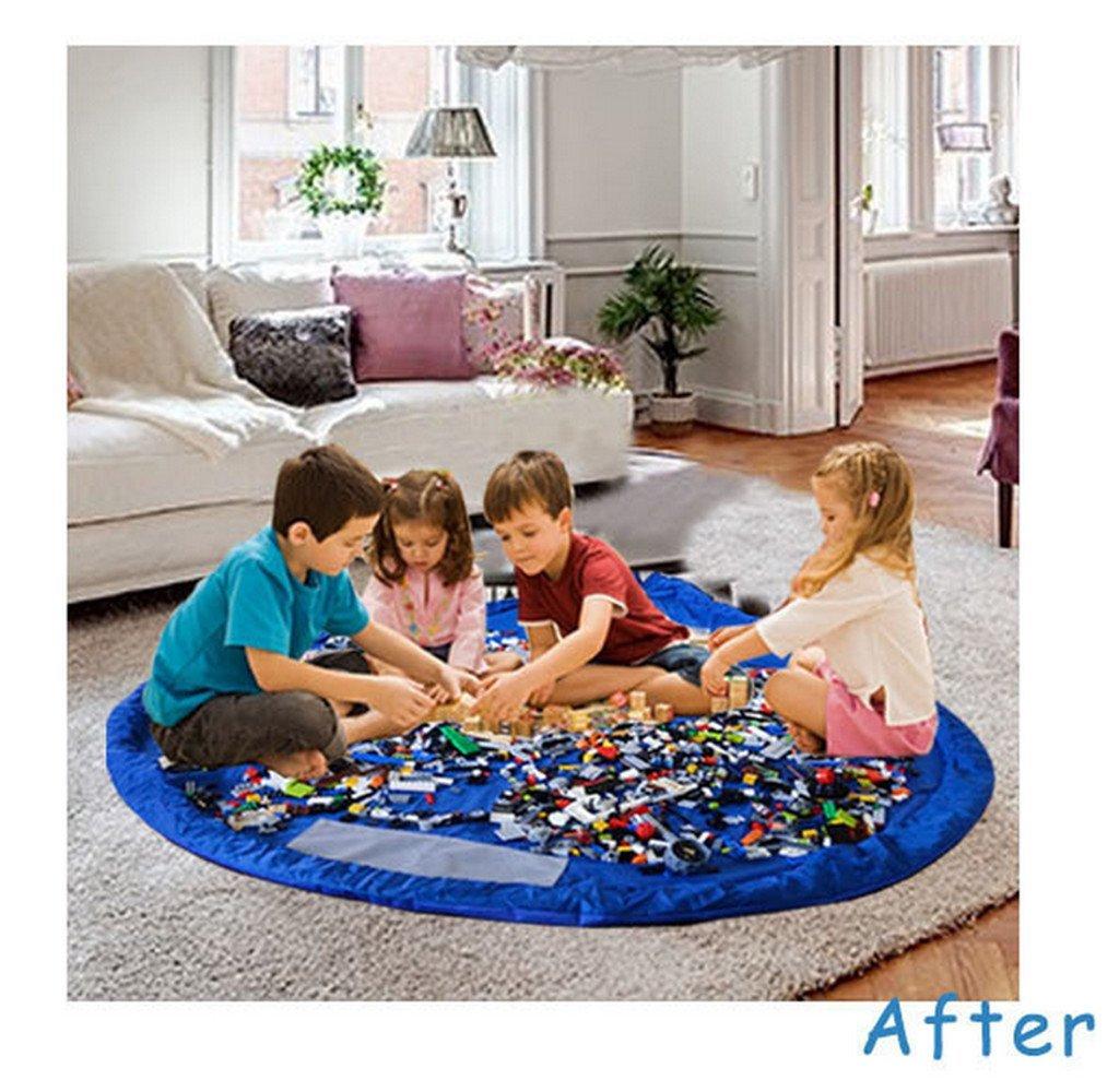 Kangaroobaby Aufbewahrungsbeutel Organizer Kinder Aufr/äumsack Spieldecke Spielzeug Aufbewahrung
