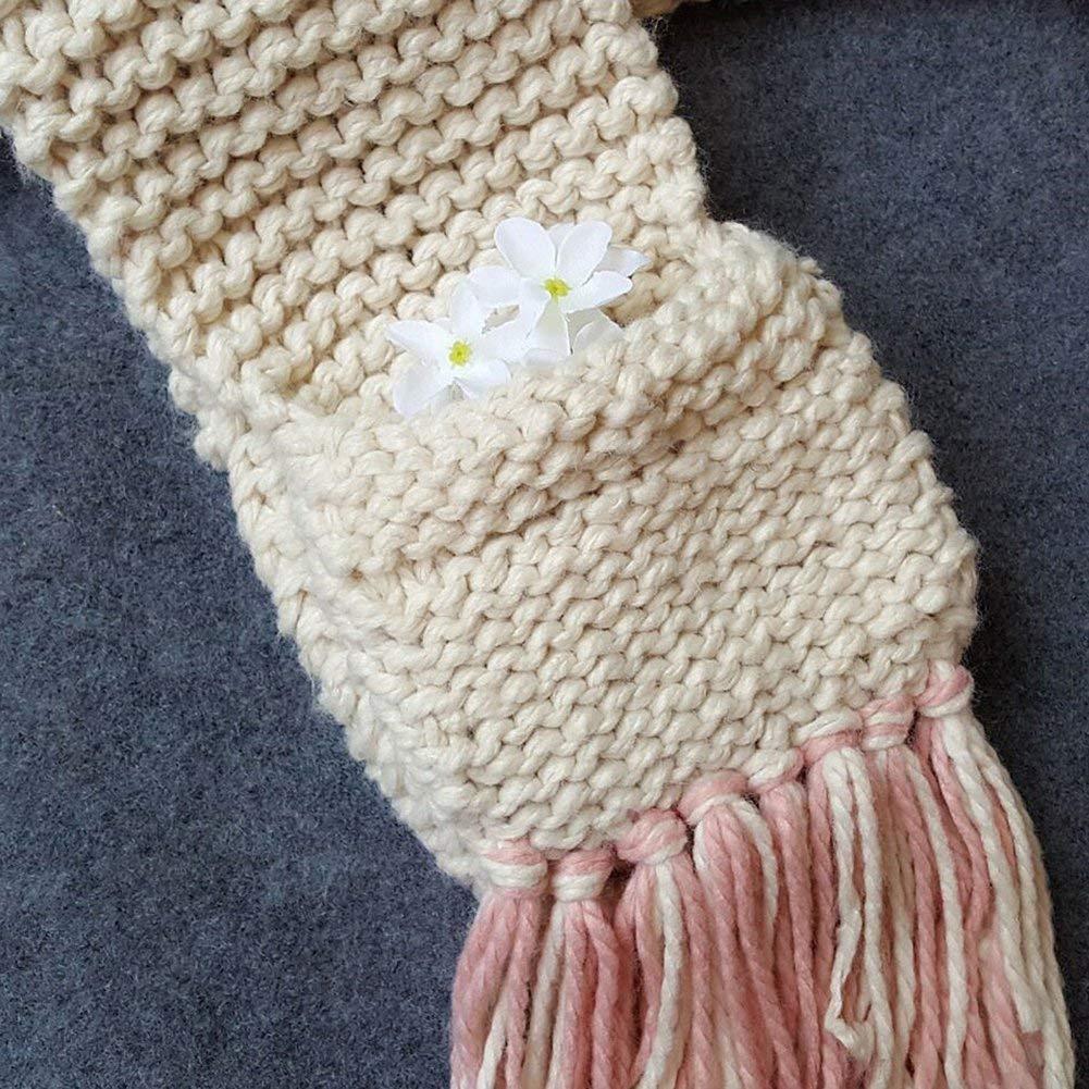 Yousorld Crochet Cartoon Unicorn Winter Hat con Bufanda de Bolsillo ...