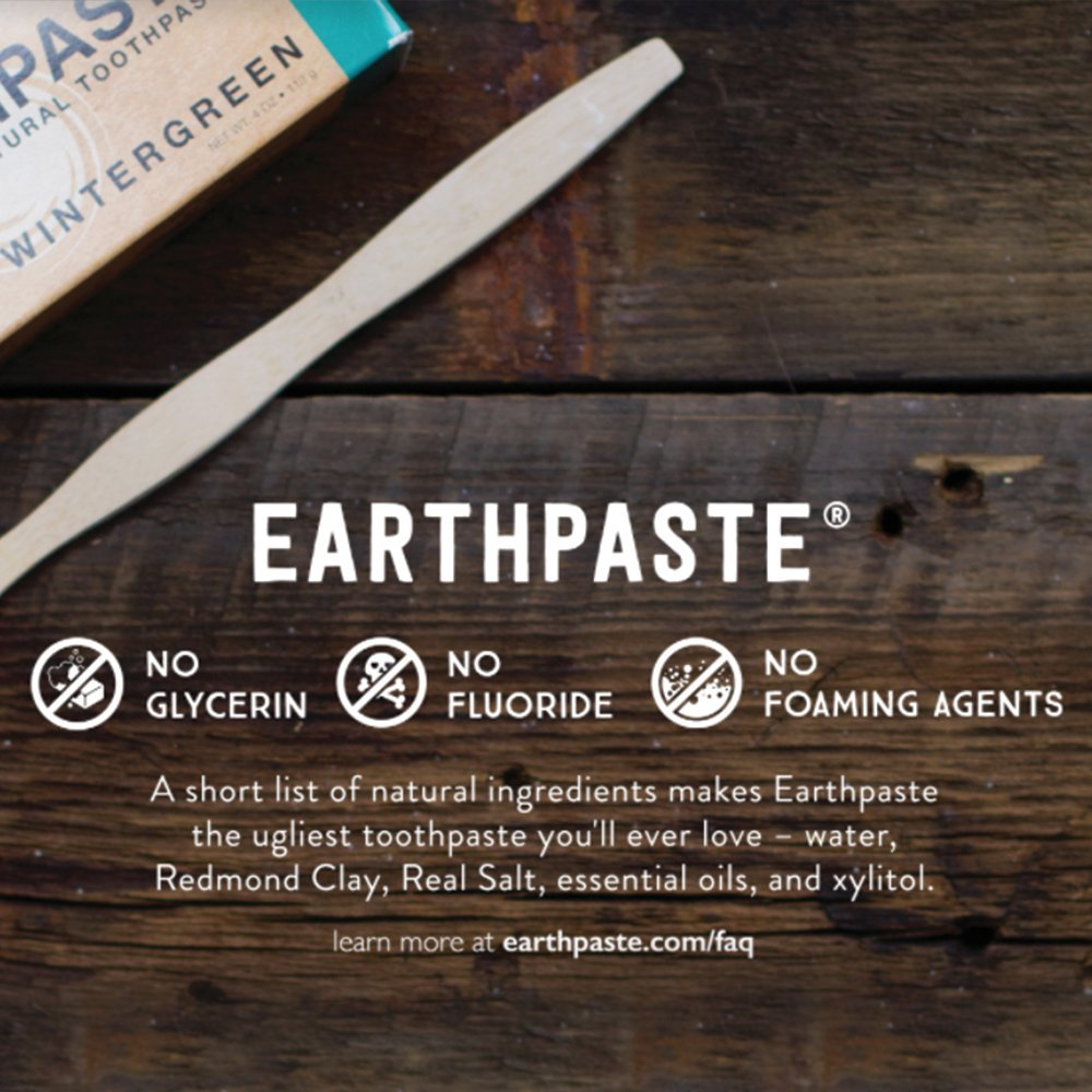 Redmond Earthpaste - Natural Non-Fluoride Toothpaste- Peppermint (2 pack- 2 x 4 Ounce Tube) by REDMOND (Image #6)
