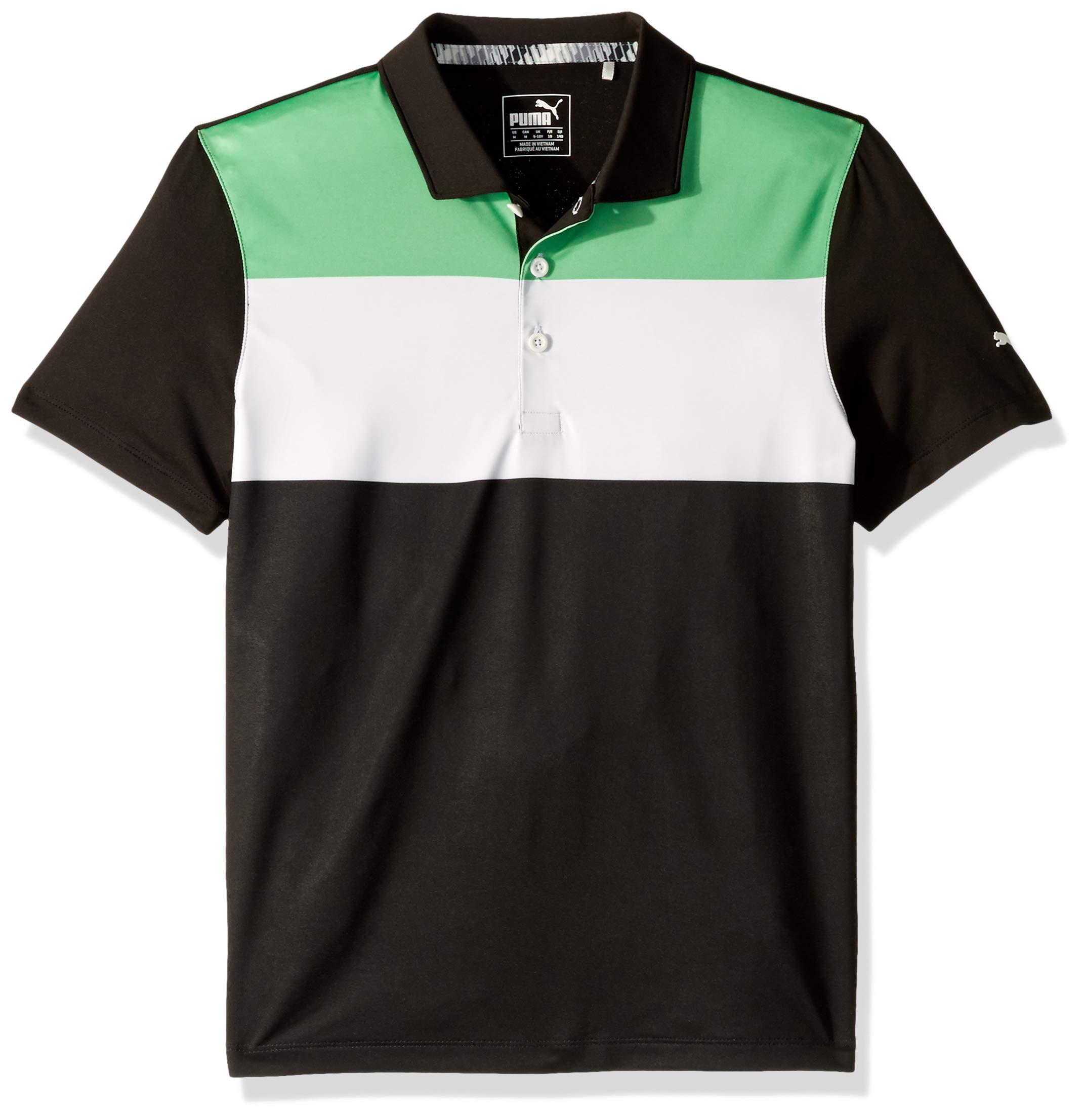 Puma Golf Boys 2019 Nineties Polo, Irish Green-Puma Black, Small by PUMA
