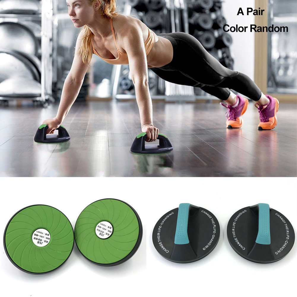 Onner 1 Pair Push-Up Bar, Perfect Fitness Pushup Handles Round 360-degree Rotation Arm Strength Fitness Exercise Push-ups Frame for Fitness workouts at Home or Gym by Onner