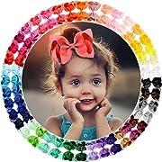 40 Colors 4.5  Hair Bows Clips Grosgrain Ribbon Bows Hair Alligator Clips Hair Barrettes Hair Accessories for Girls Toddler Infants Kids Teens Children