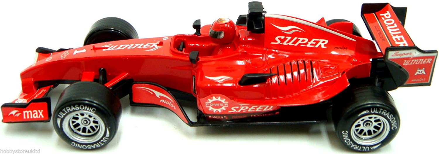 Formula One Racing Car F1 Friction Racing Car Toy 1:18 Scale with ...