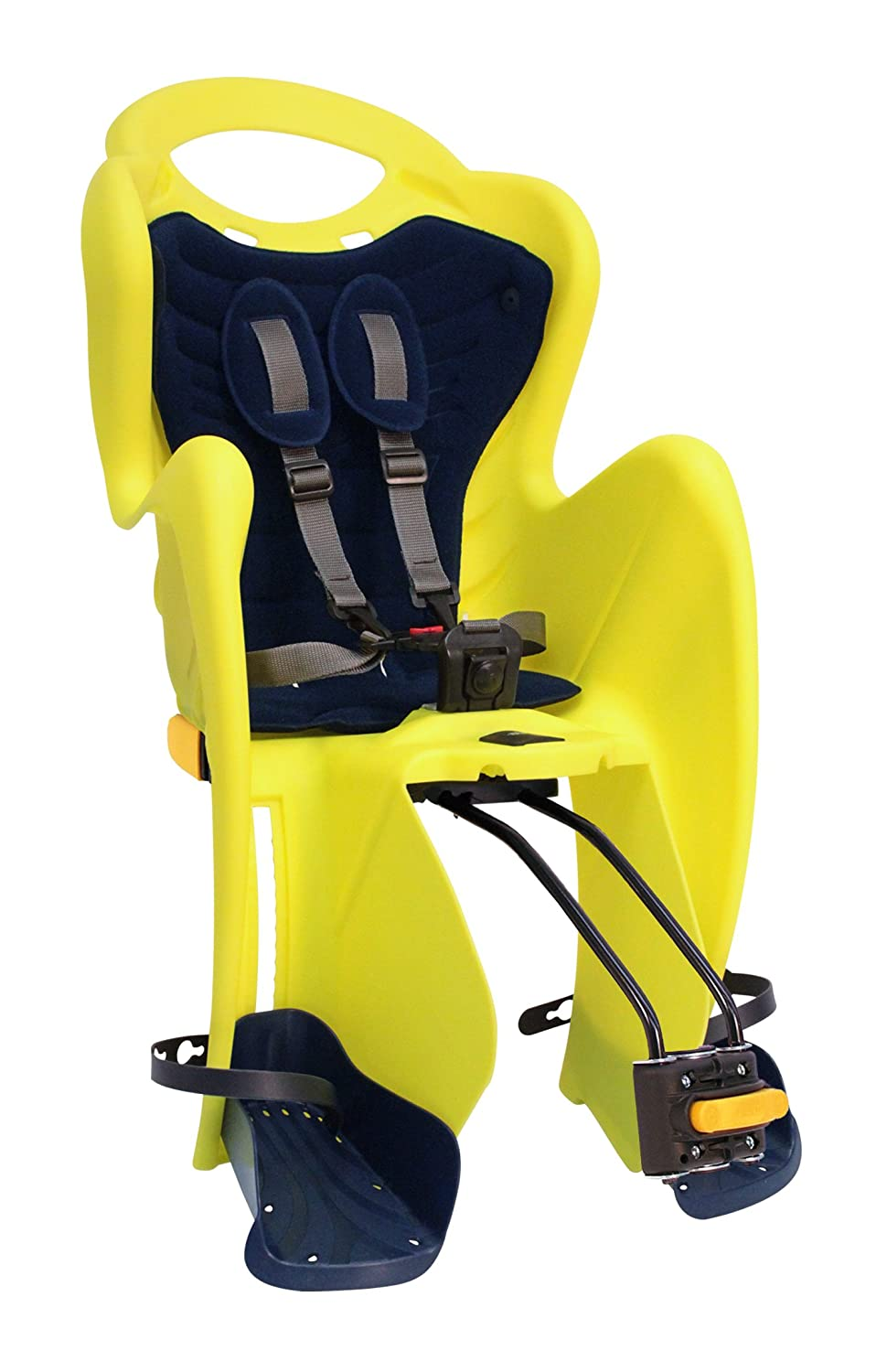 MammaCangura Italy - Highest in quality and safety Child bicycle carrier. Mr FOX RELAX High Visibility (Yellow) Rear seat by Bellelli-Italy