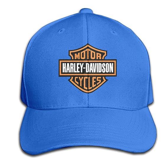Harley Davidson Logo sólido plana Bill Snapback Gorra de béisbol ...