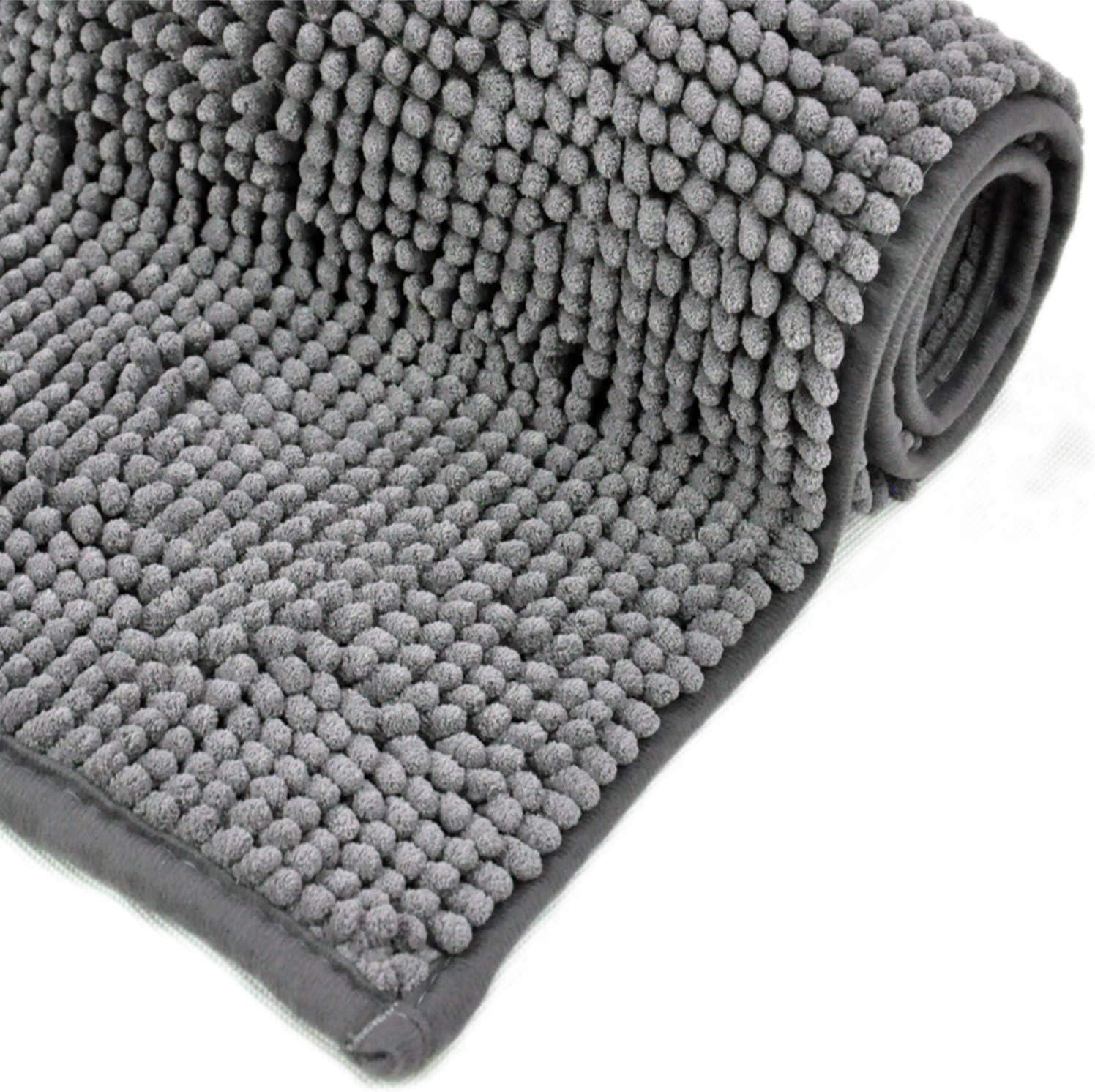 100/% Luxe microfibre polyester séchage rapide Toilette Piédestal Et Tapis de bain Set