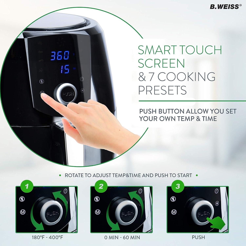 B. WEISS XL 5.5 QT 8-in-1 Family Size Air Fryer