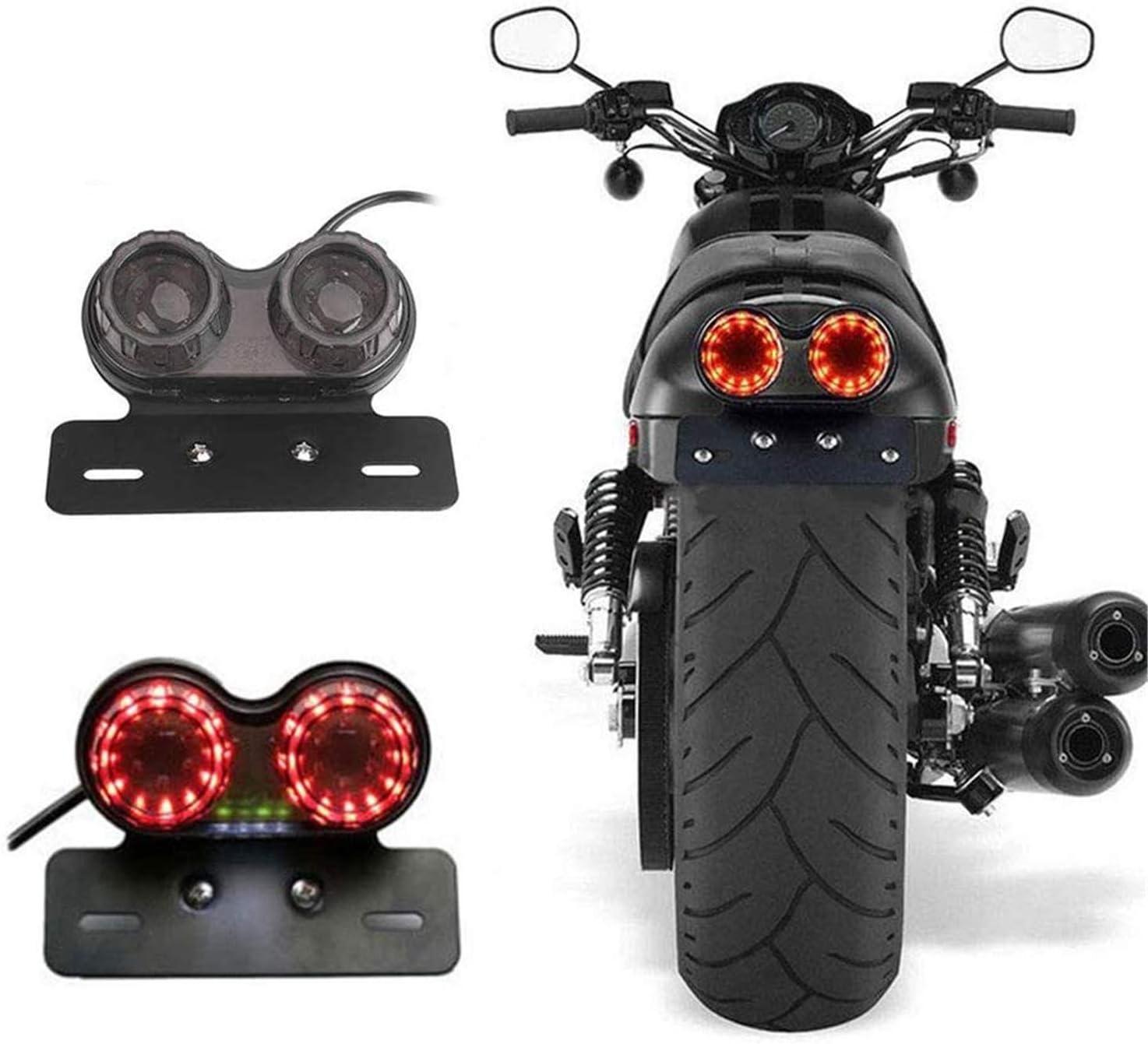 Chudan 12v Led Rücklicht Generic Durable Motorrad Light Blinkerbremse Dual Light Twin Light Integrated Sport Freizeit