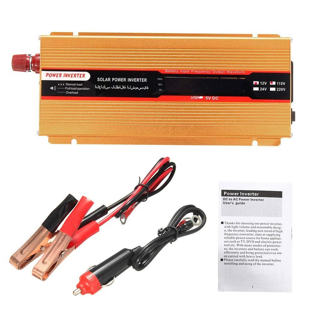 Hanbaili Onduleur sinusoïdal modifié DC24V Haute Performance pour inverseur Automatique de Voiture au Chargeur AC220V LED