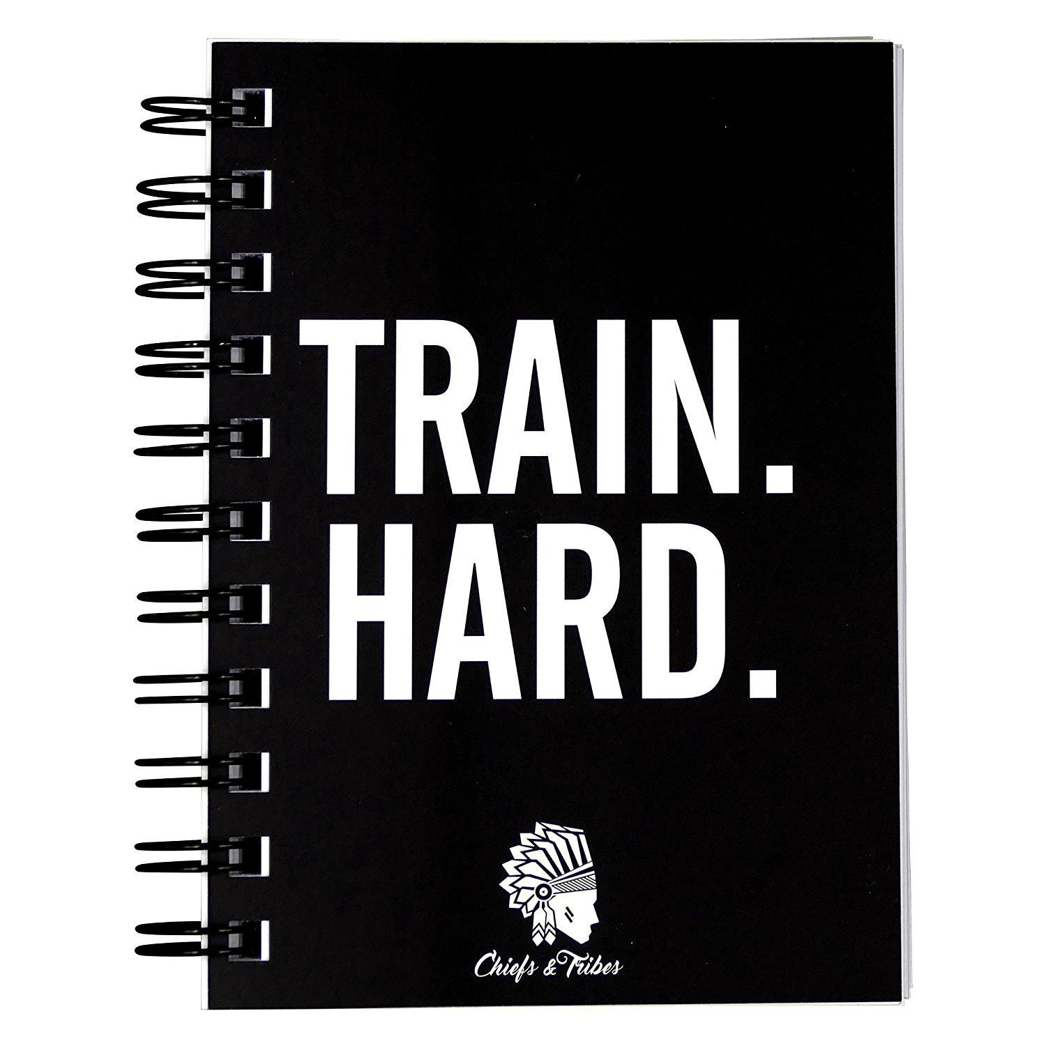 Chiefs & Tribes Fitness Planner I Workout Journal for 200 Workouts I Undated Gym Log Book I Fitness Logbook I Thick Paper I 4 x 6 inches Gym Diary