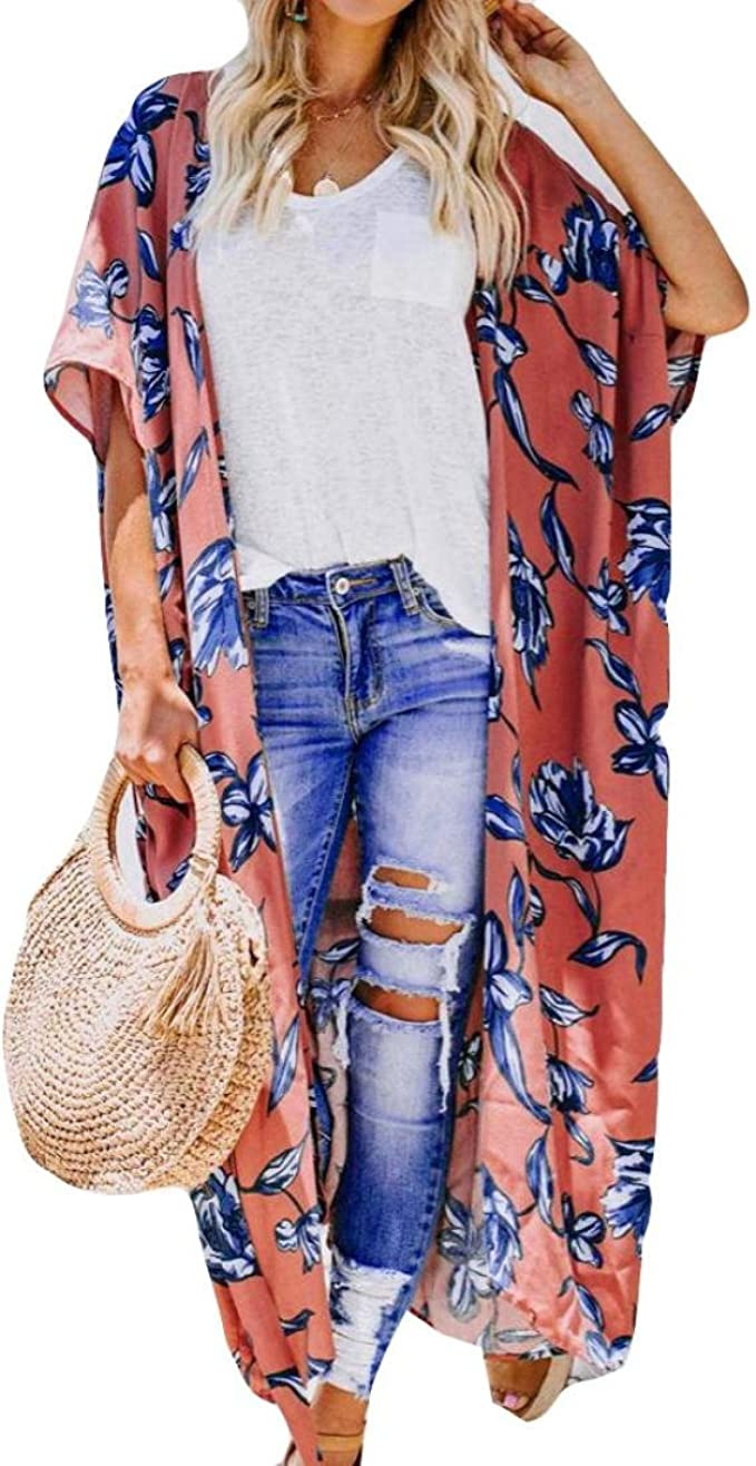 Femme Short Imprimer Fleur,Bermudas Casual Pantalons de Plage Bringbring