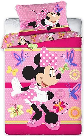 Disney 094 Minnie Maus Baby Bettwäsche Set 100 X 135cm Amazonde Baby