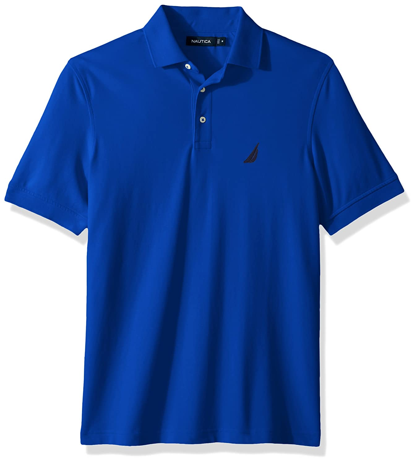 00c0ad96b Nautica Mens Short Sleeve Solid Stretch Cotton Pique Polo Shirt Polo Shirt   Amazon.ca  Clothing   Accessories