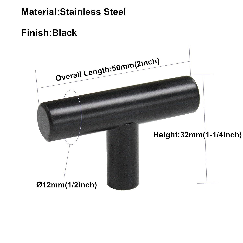 dise/ño moderno color negro Lote de 25 tiradores para armario