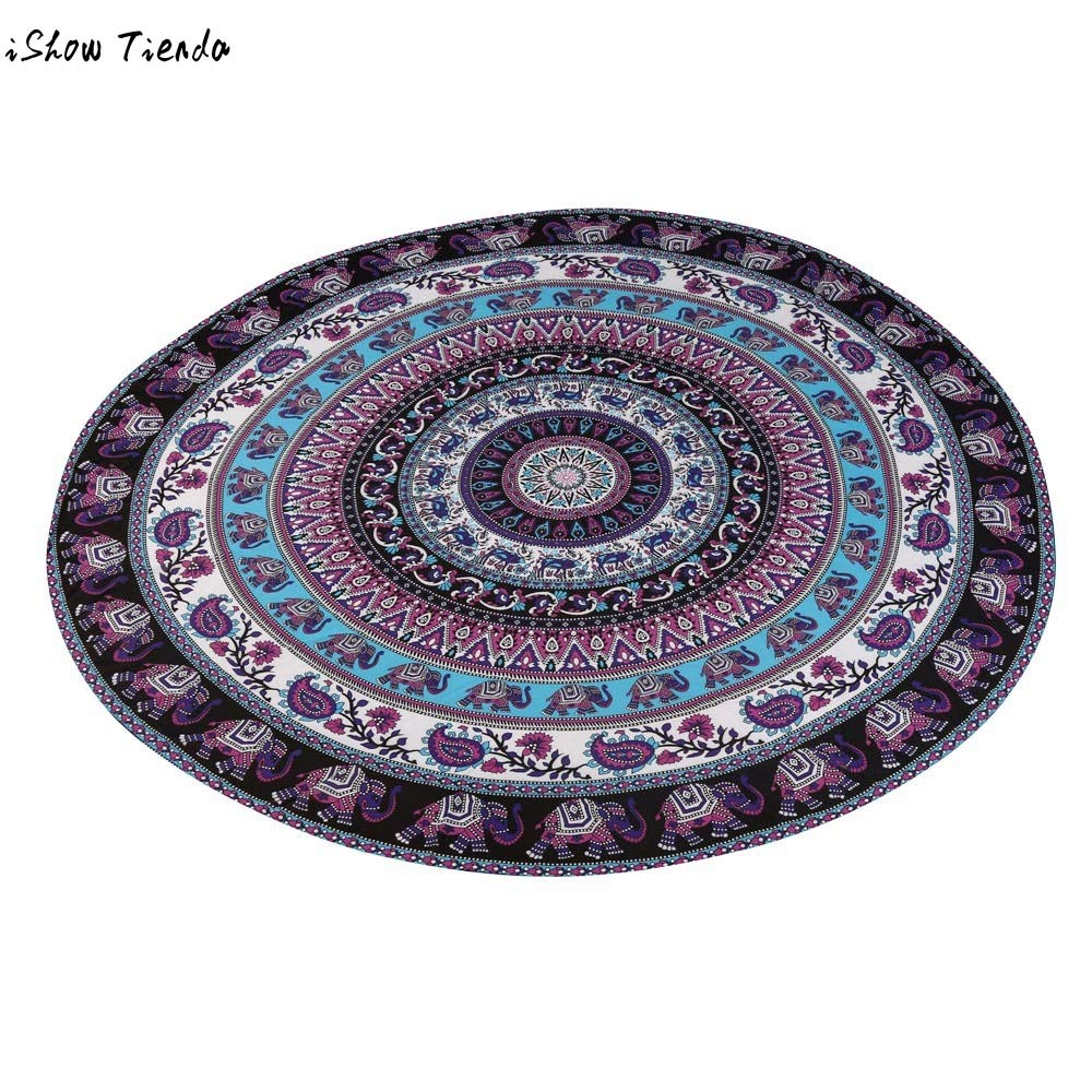 Amazon.com: Round Beach Pool Home Shower Towel Blanket Table ...