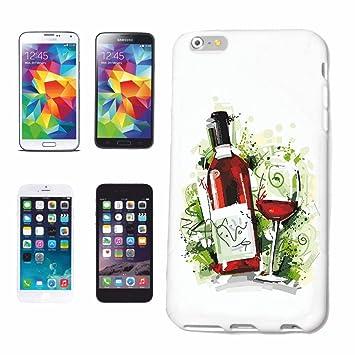 """caja del teléfono iPhone 7 """"Vidrio de vino rojo BOTELLA DE VINO Vino blanco"""