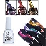 BORN PRETTY Nail Art Cat Eye Nail Polish Chameleon Magnetic Soak Off UV Gel Lacquer 3 Colors Set