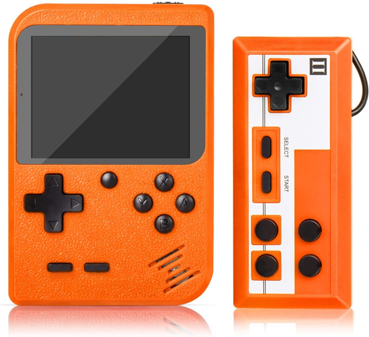 Handheld Game Console, Retro Mini Game Player with 500 Classic FC Games, 3.0 Inch Screen 800mAh Rechargeable Battery Portable Game Console Support TV Connection & Two Players for Kids Adults: Toys & Games
