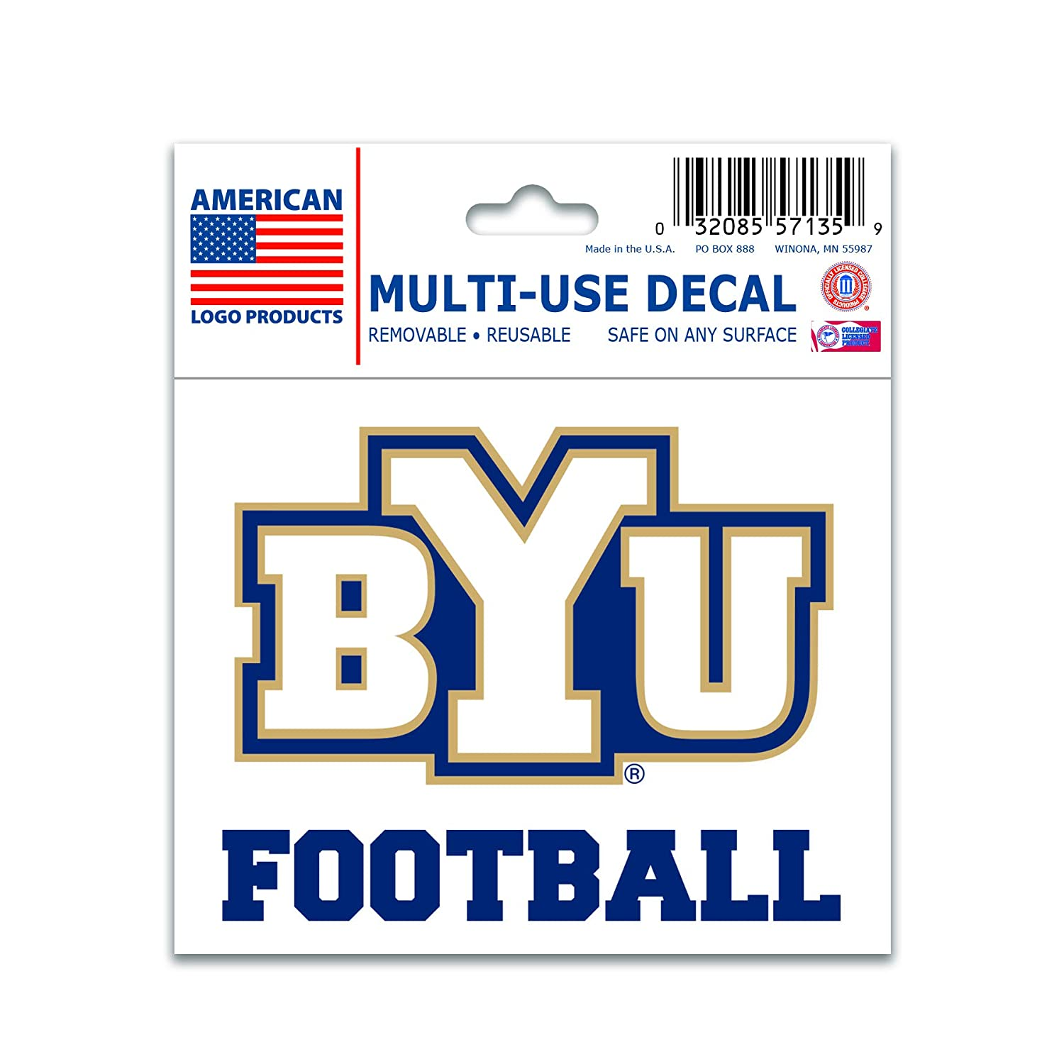 Wincraft NCAA Brigham Young University 71127091 Multi-Use Decal 3 x 4
