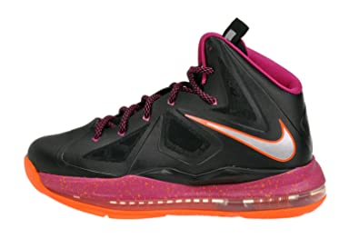 4bc3d7050f6 Amazon.com  Nike Lebron X (Gs) 543564-004 Black metallic Silver org ...